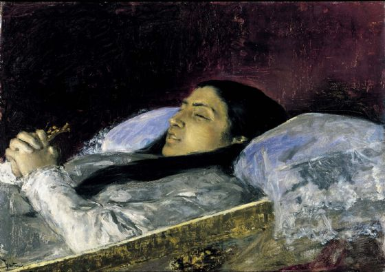 Fortuny, Mariano: Miss Del Castillo on Her Deathbed. Fine Art Print/Poster. Sizes: A4/A3/A2/A1 (004015)